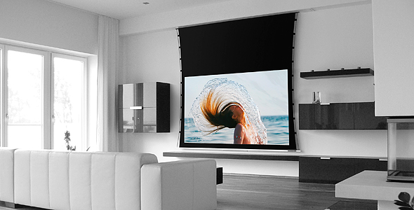 Screen Research Motorized Screens Supreme 2 In Ceiling Slot